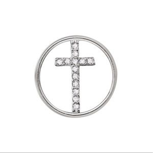 3/$15 🖤 Origami Owl 🖤 Silver Crystal Cross Plate